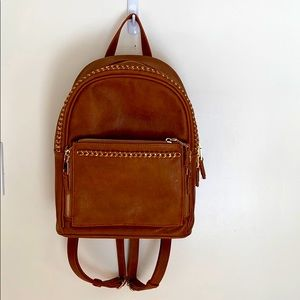 ADORABLE GOLD AND BROWN BACKPACK